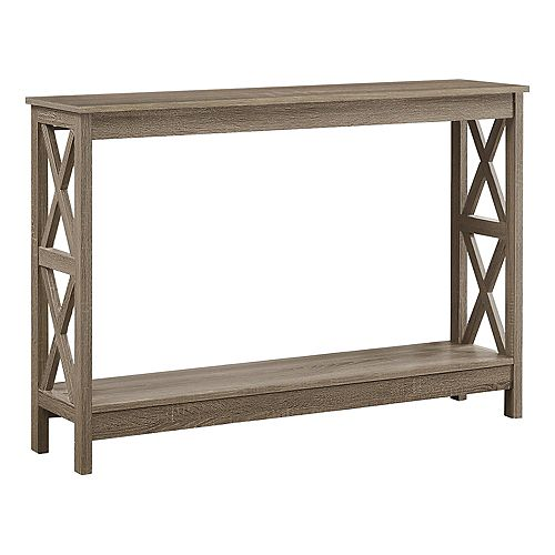 """Table D'Appoint - 48""""L / Console D'Entree Taupe Fonce"""