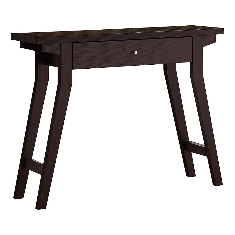 """Monarch Specialties Accent Table - 42""""L / Espresso With A Storage Drawer"""
