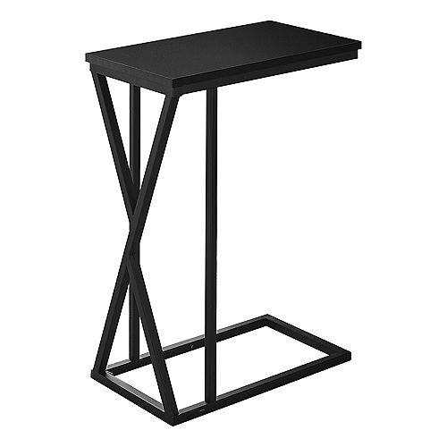 """Table D'Appoint - 25""""H / Noir / Metal Noir"""