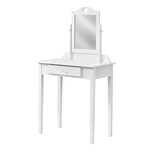 Vanity - White / Mirror And Storage Drawer