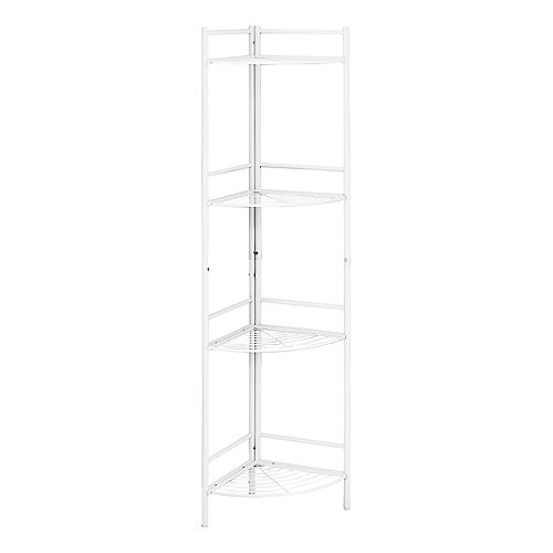 "Monarch Specialties Bookcase - 58""H / White Metal Corner Etagere"