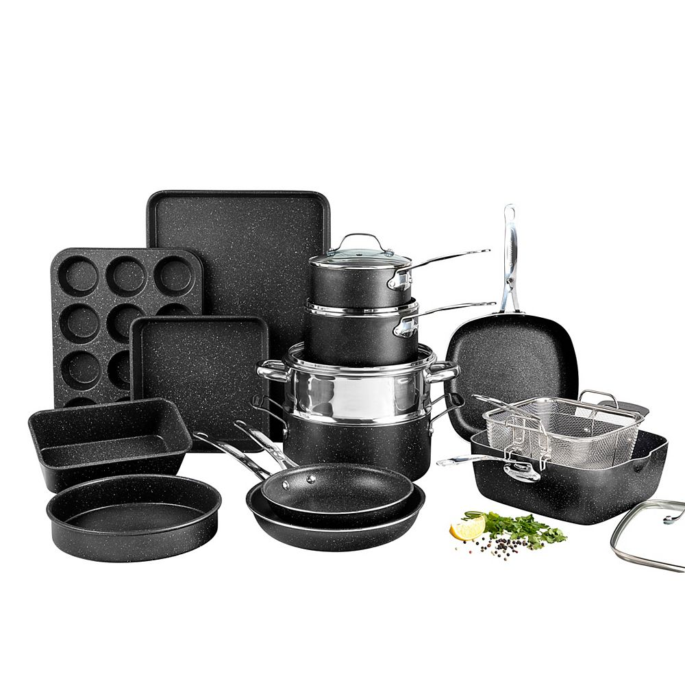 Granite Stone Diamond 20-Piece Aluminum Ultra-Durable Non-Stick Diamond Infused Cookware and Bakeware Set