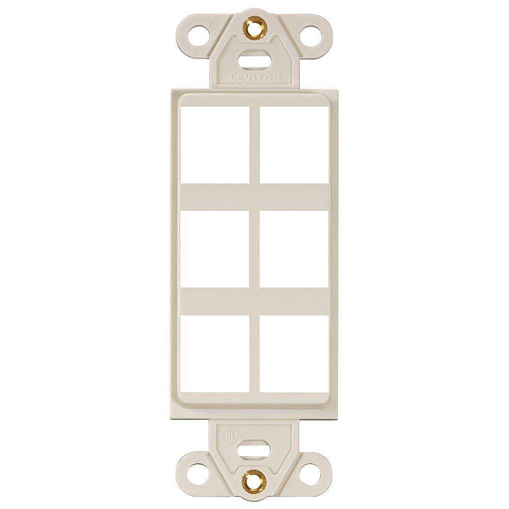 Leviton Decora QuickPort 6-Port Insert, Light Almond