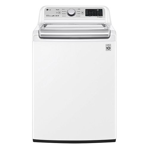 5.6 cu. ft. Smart Top Load Washer with Agitator and Wi-Fi in White - ENERGY STAR®