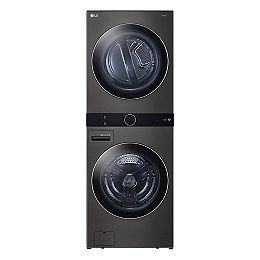 Front Load WashTower Laundry Centre with 5.2 cu. ft. Washer and 7.4 cu. ft. Electric Dryer in Black Steel