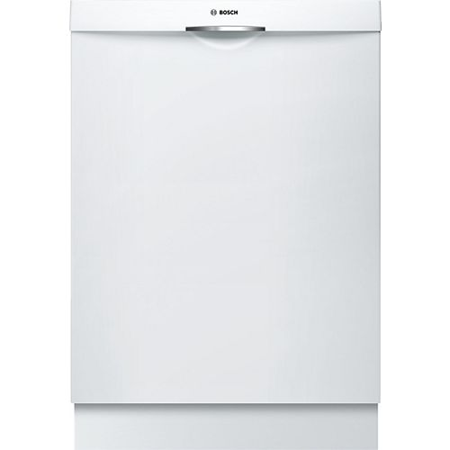 300 Series 24-inch Top Control Dishwasher in White, 46 dBA ENERGY STAR®