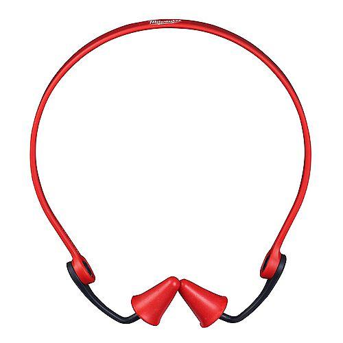 Bouchons d'oreille réutilisables rouges avec un indice de réduction du bruit de 25 dB