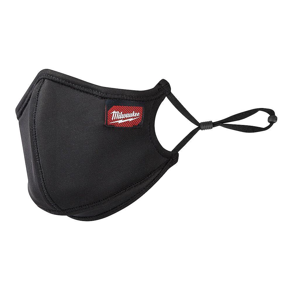 Milwaukee Tool Large/X-Large Black 3-Layer Reusable Performance Face Mask