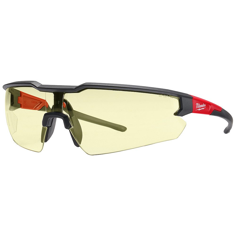 Milwaukee Tool Safety Glasses with Yellow Anti-Scratch Lenses