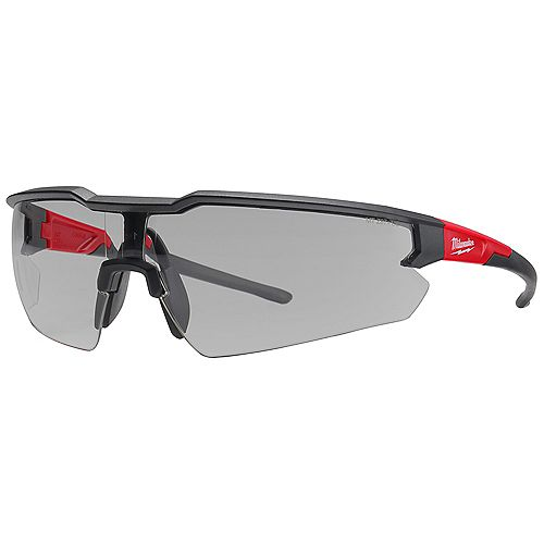 Safety Glasses with Gray Anti-Scratch Lenses (Polybag)