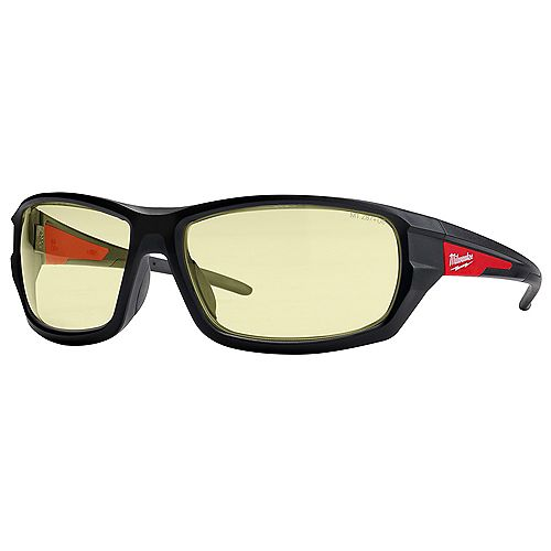 Milwaukee Tool Performance Safety Glasses with Yellow Fog-Free Lenses (Polybag)