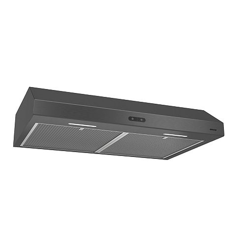 30 inch 250 CFM Undercabinet Range Hood in Black Stainless Steel