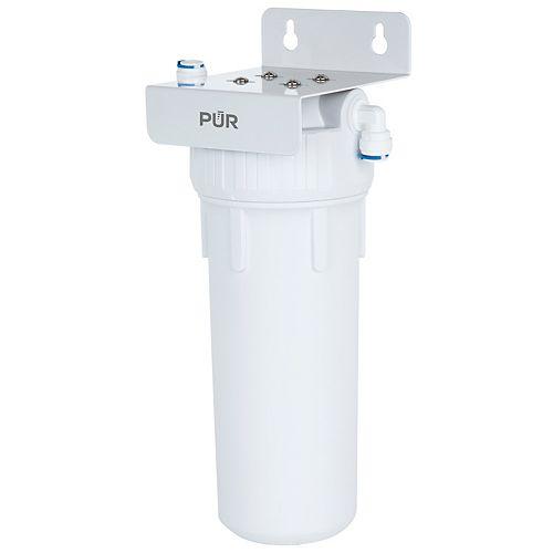 Système de filtration d'eau universel à un étage pour installation sous l'évier