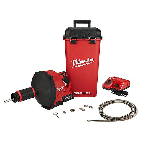 M18 FUEL 18V Lithium-Ion Cordless Drain Cleaning Snake Auger W/ 1/4 -inch and 3/8 -inch Cable Drive