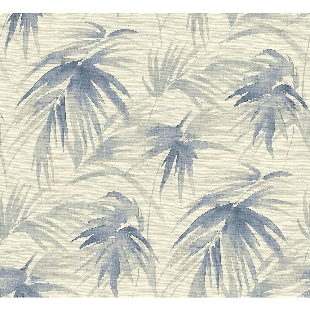A Street Prints Darlana Blue Grasscloth Wallpaper The Home Depot Canada