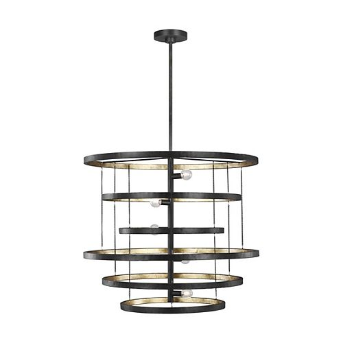 Feiss Collection for Generation Lighting Celeste 5-Light Aged Iron Chandelier