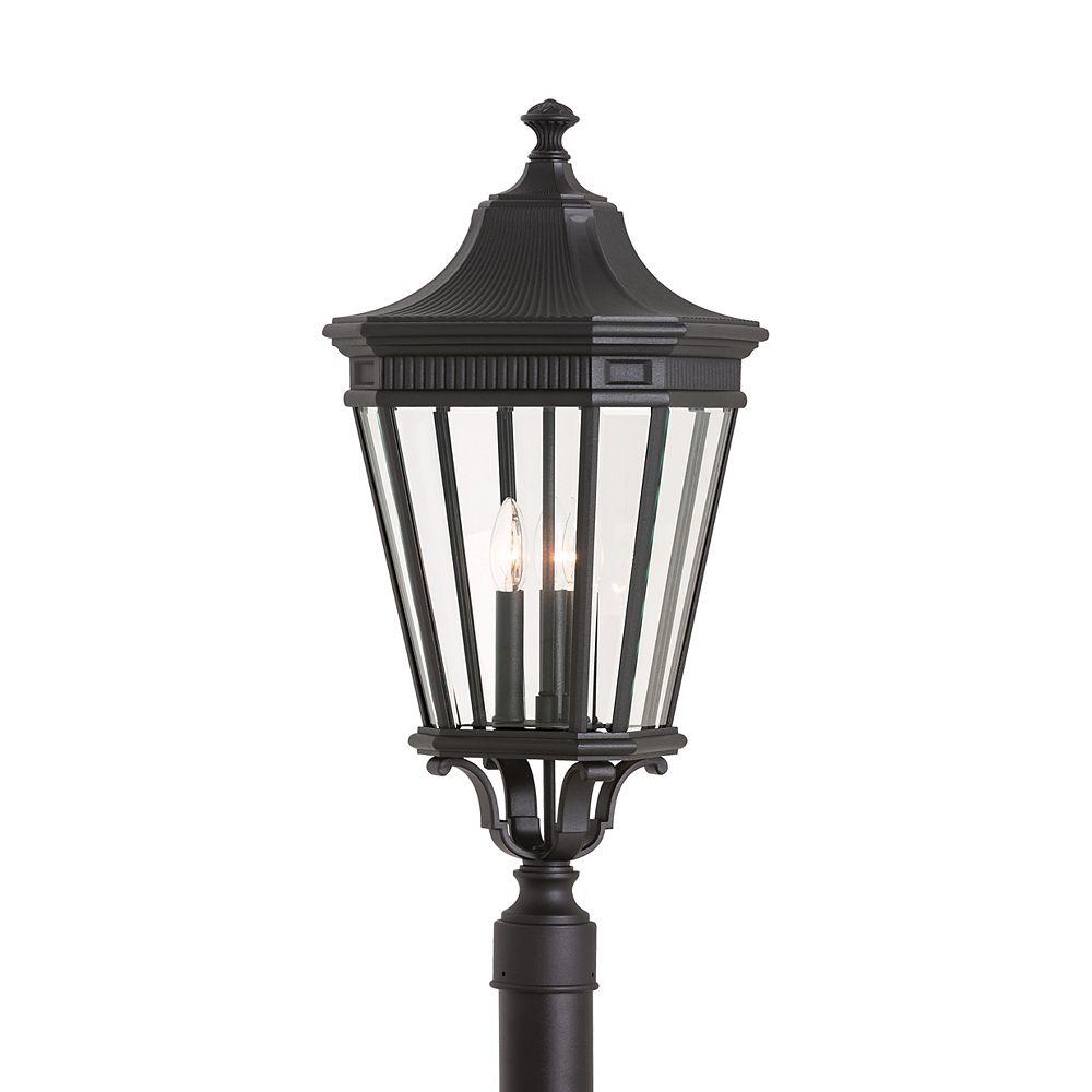 Feiss Collection for Generation Lighting Cotswold Lane Lampe dextérieur poteau en noir à 3 ampoules