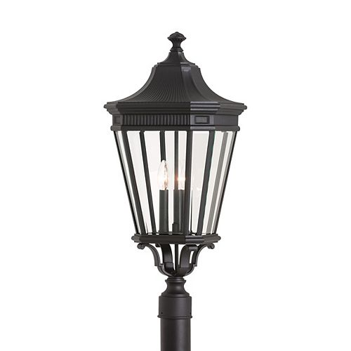 Feiss Collection for Generation Lighting Cotswold Lane 3-Light Black Outdoor Post Light