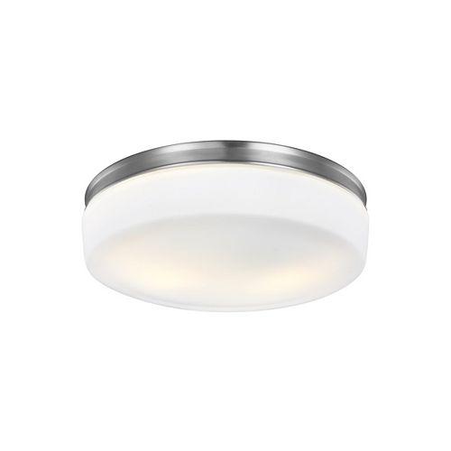 Feiss Collection for Generation Lighting Issen 2-Light Satin Nickel Flush Mount
