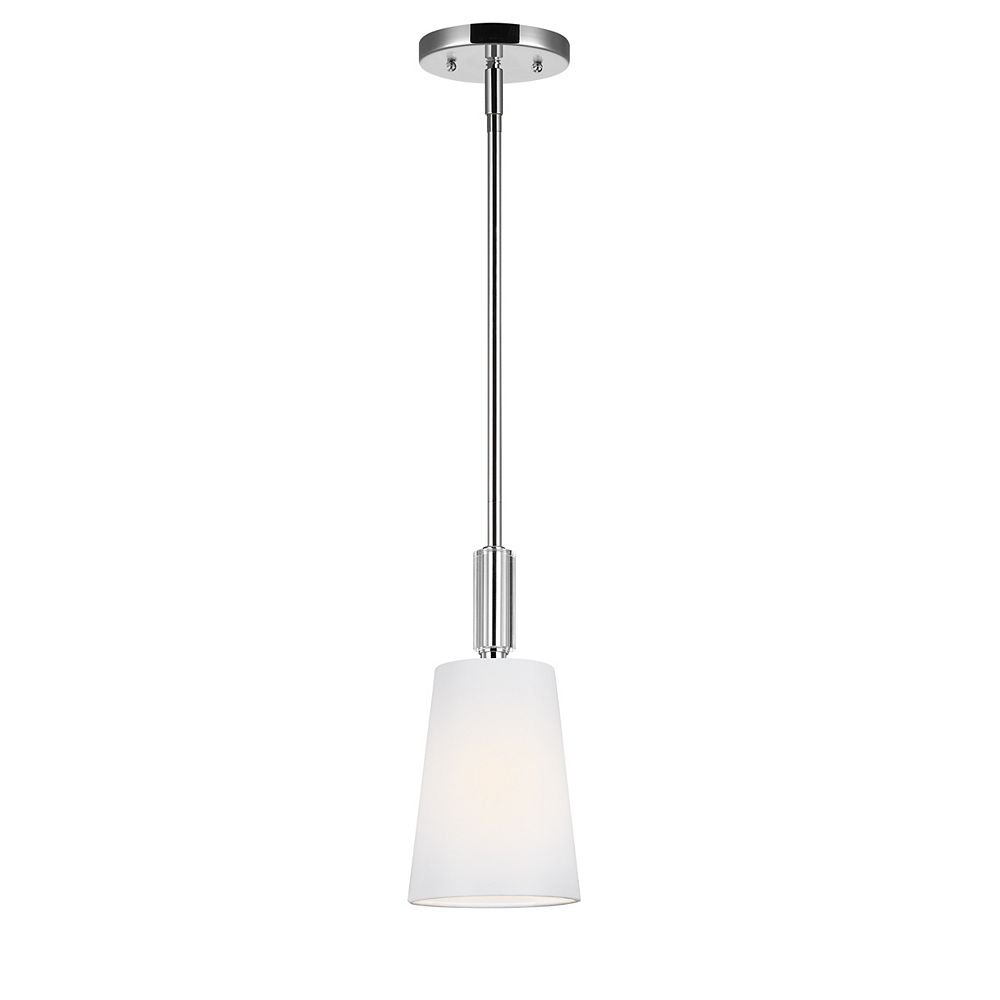 Feiss Collection For Generation Lighting Lismore 1 Light Polished Nickel Mini Pendant The Home Depot Canada