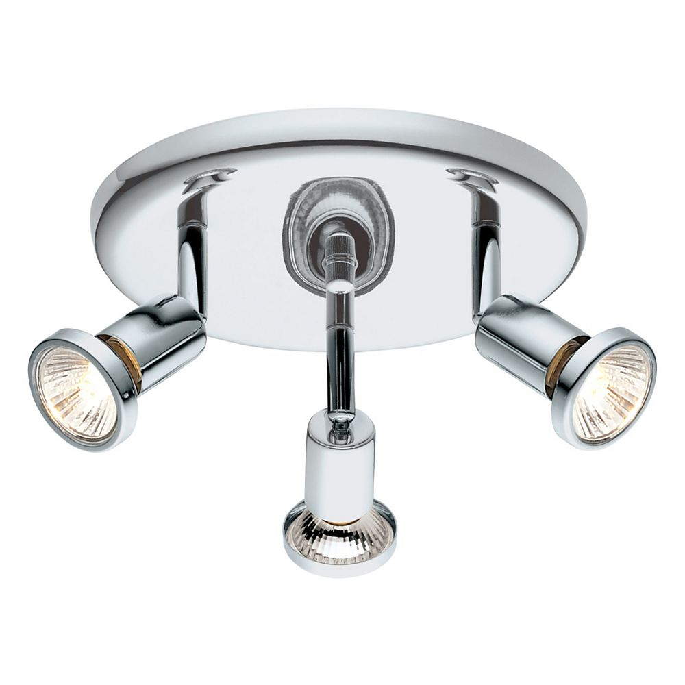 Eglo Buzz-2 3-Lights 50W Chrome Flushmount