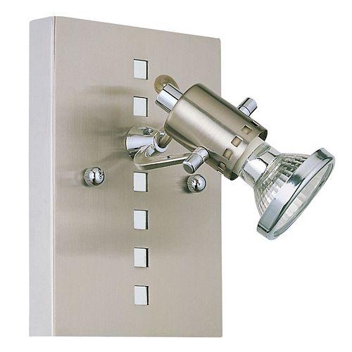 Fizz 1-Lumière 35W Nickel Mat et Chrome Murale