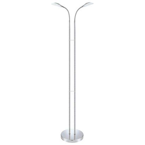 """Canetal-1 50"""" Chrome Floor Lamp with In-Line Switch"""