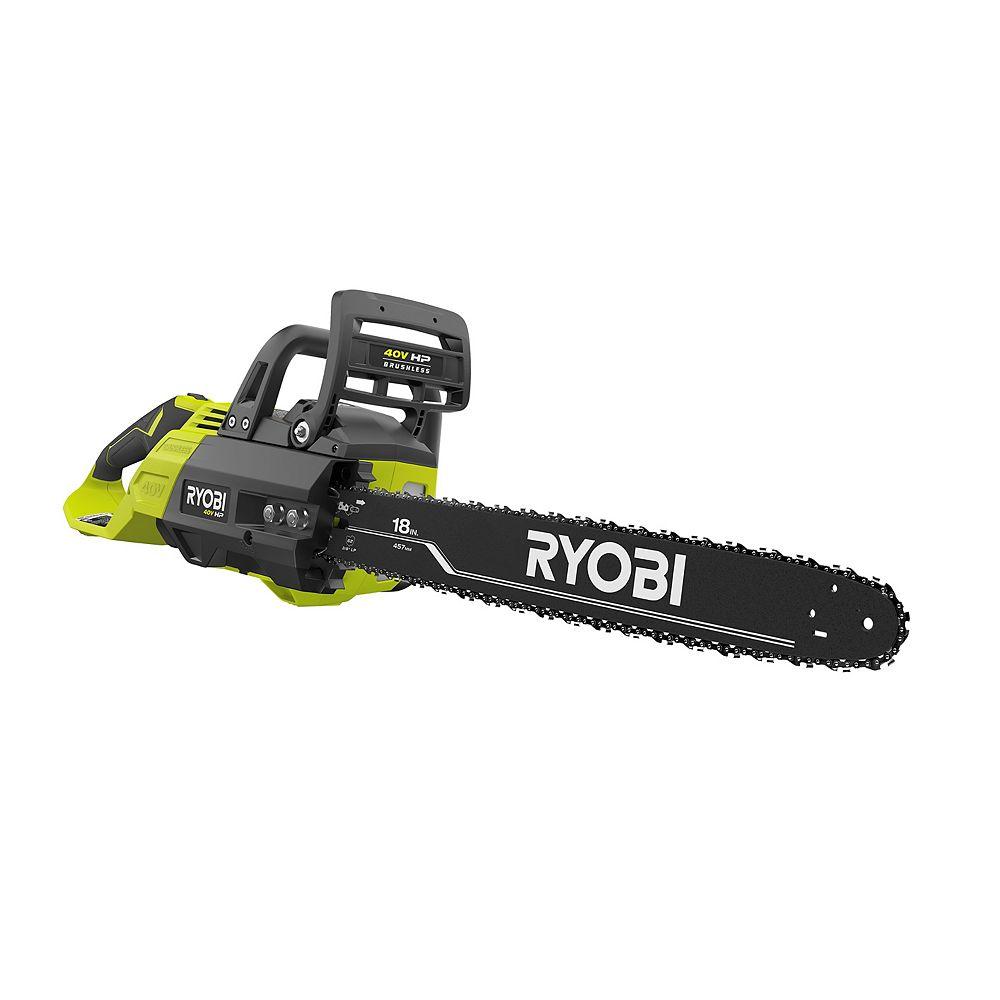 RYOBI 40V HP Brushless Cordless 18-inch Chainsaw (Tool-Only)