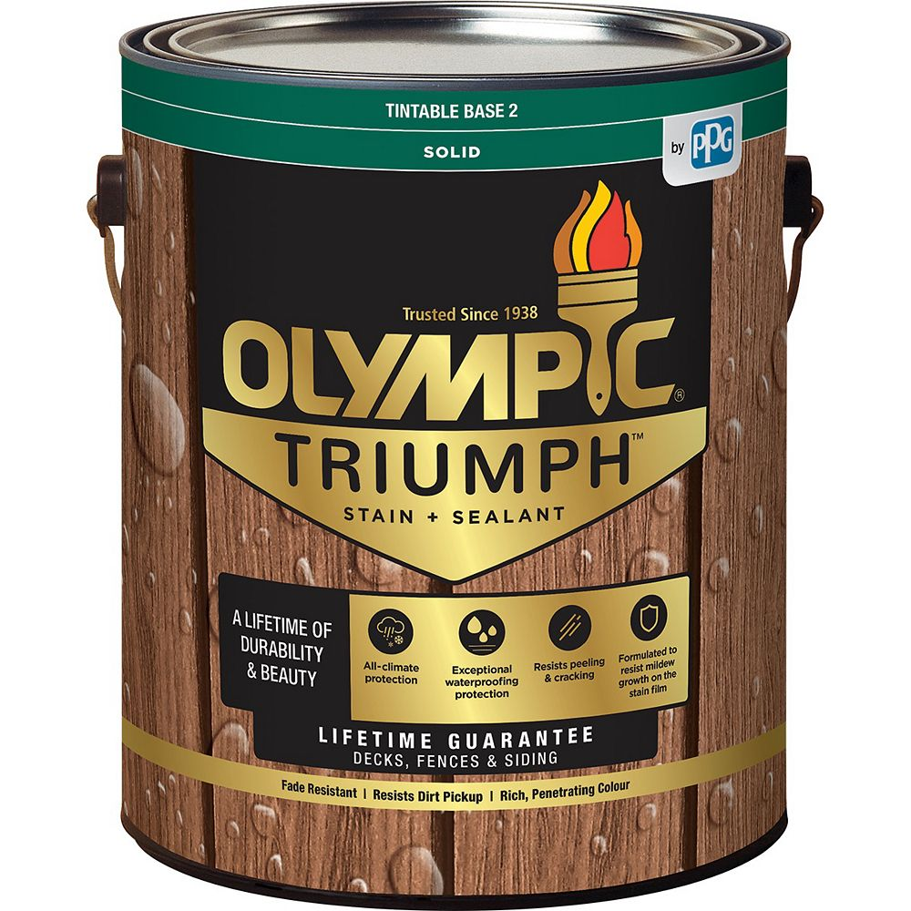 Olympic Triumph Solid Stain plus Sealant Base 2 3.37 L-8233141C