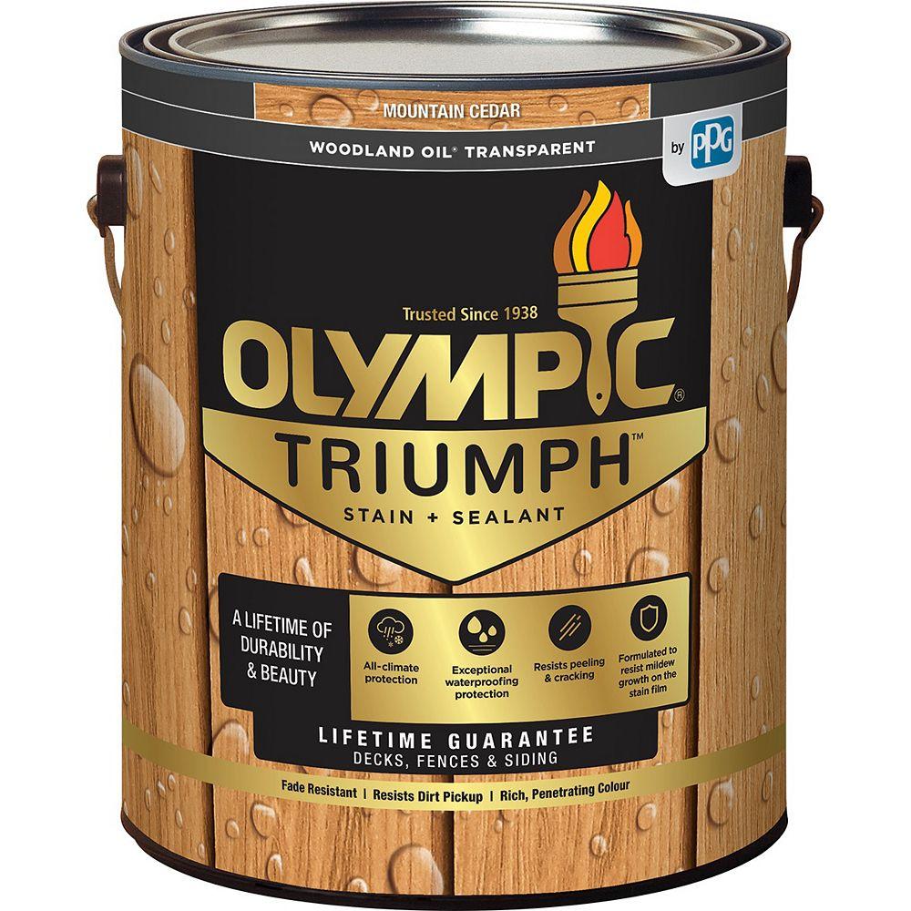 Olympic Triumph Woodland Oil Transparent Stain plus Sealant Mountain Cedar 3.78 L-8211921C
