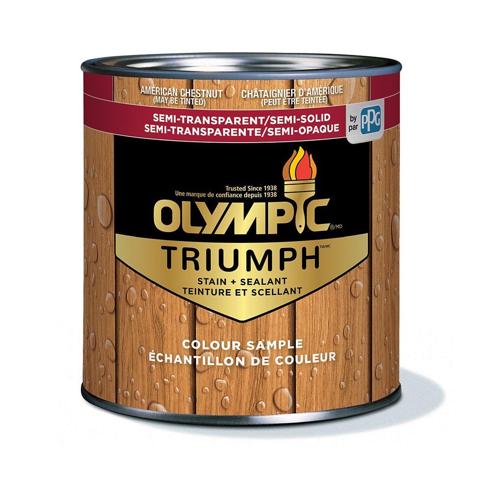 Olympic Triumph Semi-Transparent/Semi-Solid Stain plus Sealant American Chestnut 221 mL-8121121C