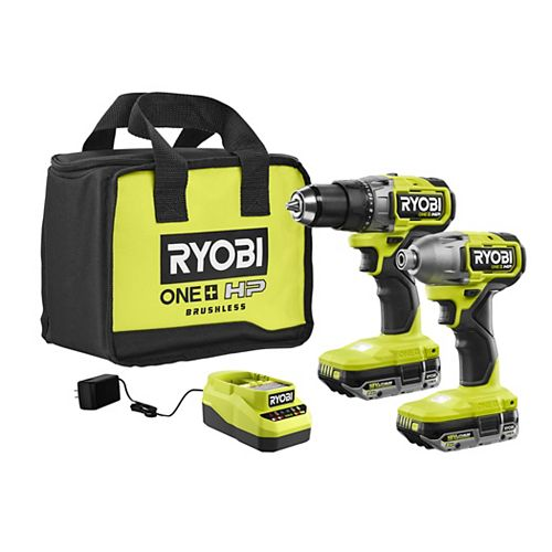 18V ONE+ HP Brushless Cordless Drill/Driver & Impact Kit with (2) HP Batteries, Charger, and Bag