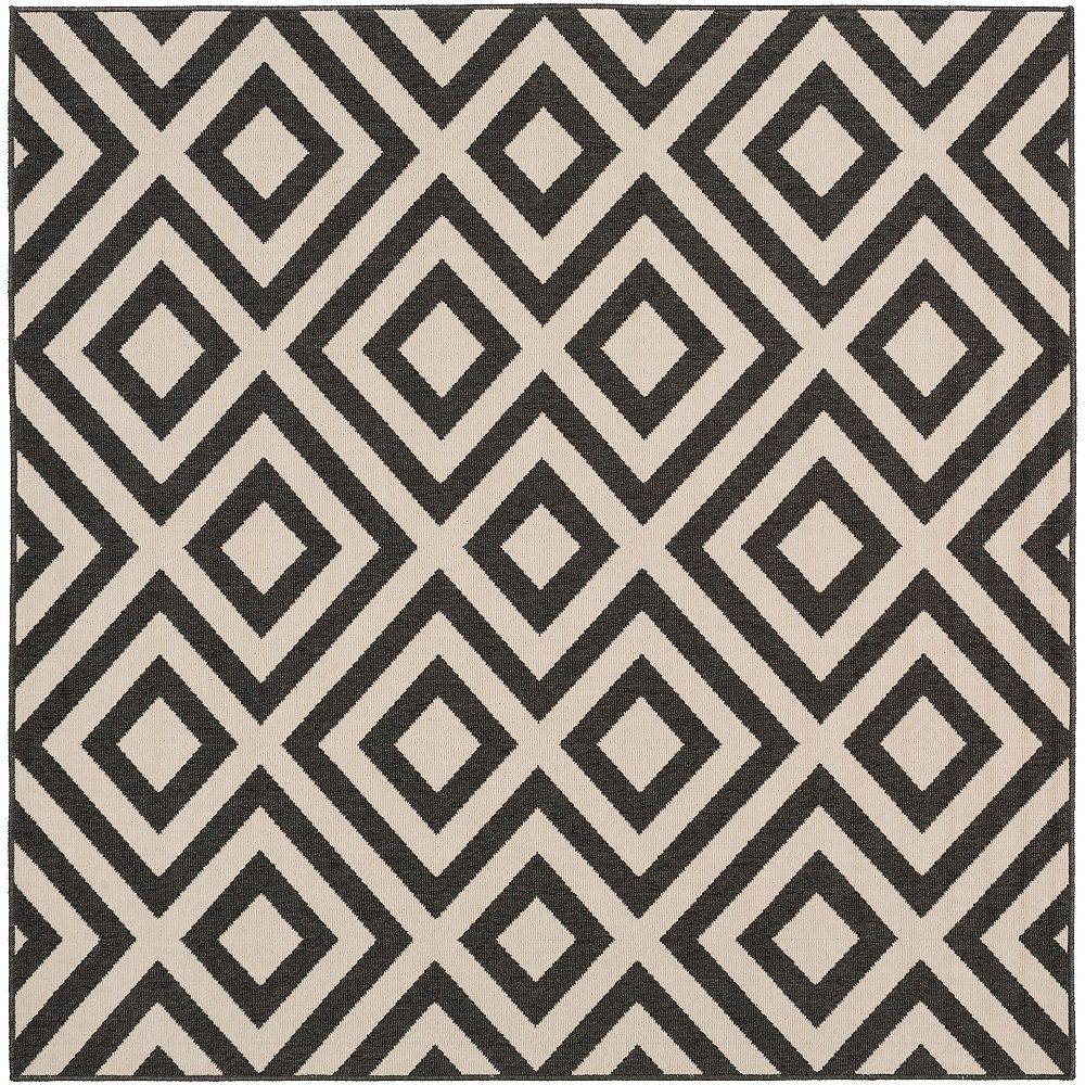 Artistic Weavers Felix Black 7 ft. 3 in. x 7 ft. 3 in. Square Indoor/Outdoor Area Rug