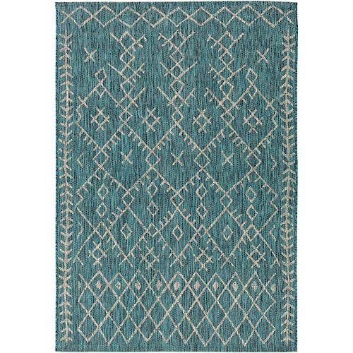 Artistic Weavers Vagar Aqua 6 ft. 7 in. x 9 ft. Indoor/Outdoor Area Rug