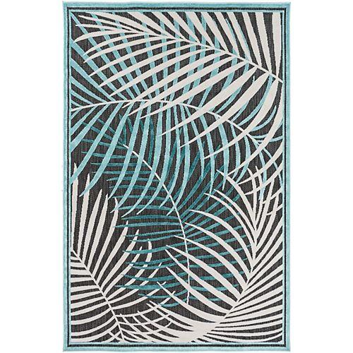 Artistic Weavers Guaral Aqua 4 ft. 7-inch x 6 ft. 7-inch Indoor/Outdoor Area Rug