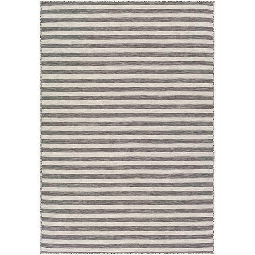 Bravo Black/White 7 ft. 10 in. x 10 ft. 2 in. Indoor/Outdoor Area Rug