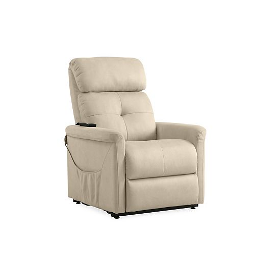 Power Recline and Lift Chair in Stone Nubuck