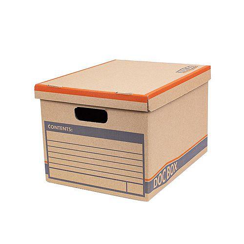 Lot de 10 cartons à documents usage intensif avec poignées (38,1 cm L x 25,4 cm H x 30,48 cm l)
