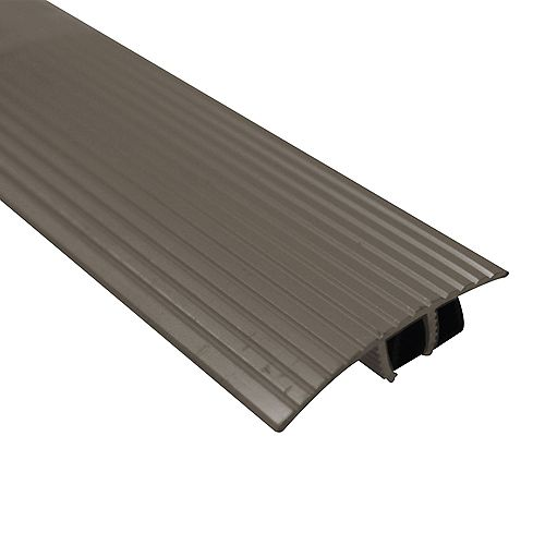 Cinch T-Moulding with Snap Track - Mocha - 5/16 in. (8 mm),13/32 in. (10 mm) x 3 ft. (36 in.)
