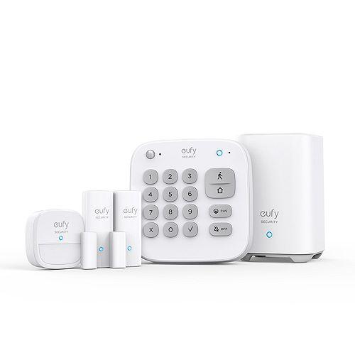 5-Piece Home Alarm Kit with Keypad, Motion Sensor, 2 Entry Sensors, Home Alarm System