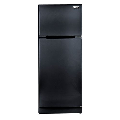 14.0 cu. ft. Propane Top Freezer Refrigerator with CO Alarming Device and Safety Shut-Off in Black