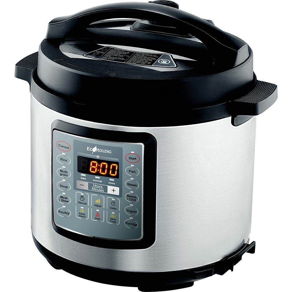 Ecopatio Ecohouzng Stainless Steel Electric Pressure Cooker