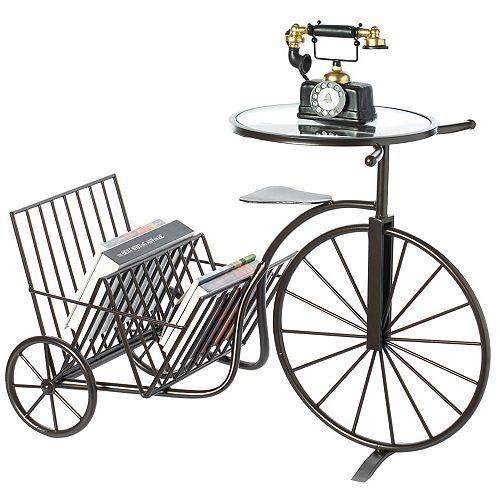 Metal Bicycle Bike Phone Table Book Magazine Rack