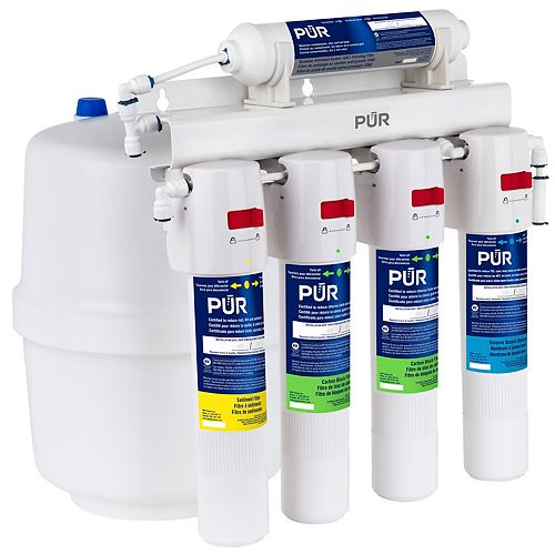 5-Stage Under Sink Quick-Connect Reverse Osmosis Water Filtration System