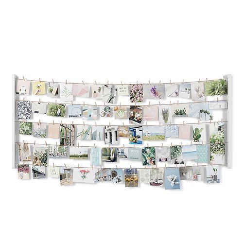 HANGIT - Pêle-mêle mural XL 66x152cm 80 pinces blanc