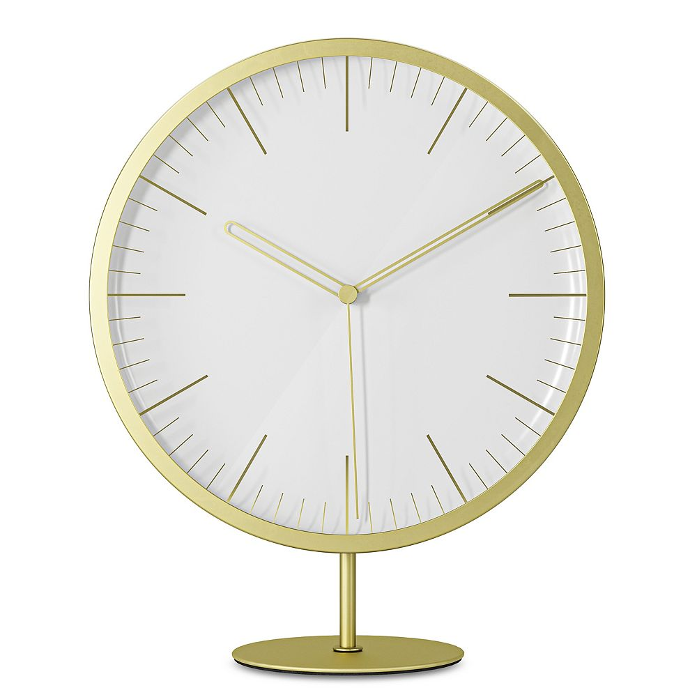 Umbra Infinity Clock Matte Brass