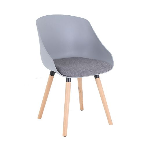 Mid Back Lounge Chair in Gray