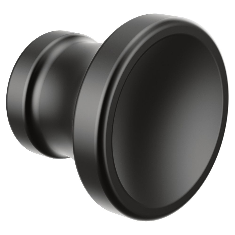 MOEN Colinet Traditional Cabinet and Drawer Knob in Matte Black