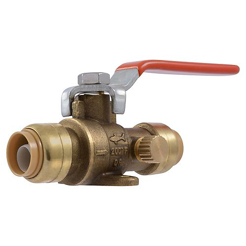SharkBite-1/2 inch  Ball Valve w/drain and Mounting Bracket