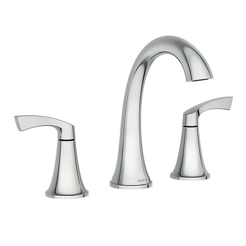 Korek 8-Inch Widespread 2 Handle Bathroom Faucet in Chrome